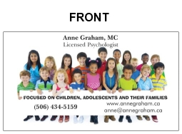 Please click to download Anne's business card.